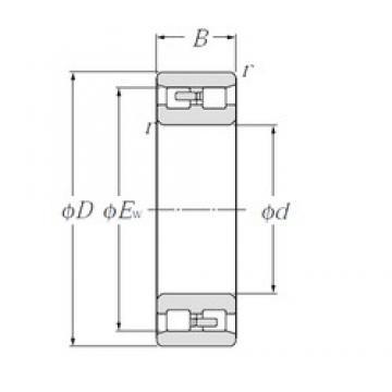 200 mm x 280 mm x 80 mm  NTN NN4940 Multi-Row Cylindrical Roller Bearings