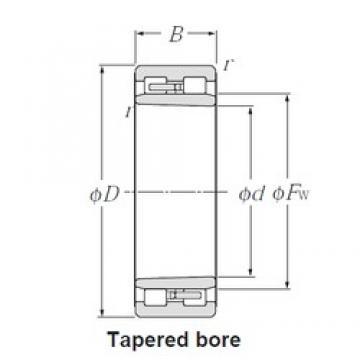 500 mm x 670 mm x 170 mm  NTN NNU49/500K Multi-Row Cylindrical Roller Bearings
