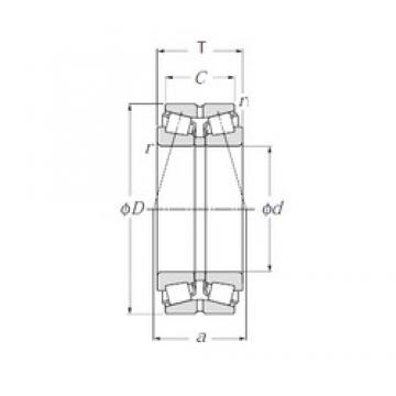 NTN 423188 Double Row Tapered Roller Bearings (Outside Direction)