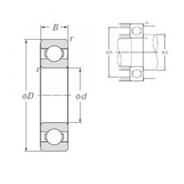 120 mm x 165 mm x 22 mm  NTN 6924 Deep Groove Ball Bearings